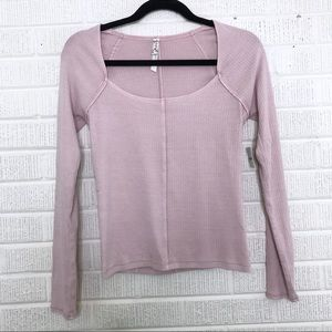 Intimately Free People Ribbed Long Sleeve Top M